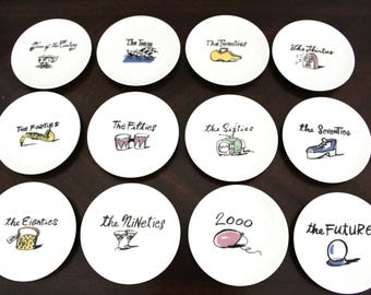 """Coaster in Millennium by Pottery Barn China Collection ,  Set of 12 Pottery Barn Millennium 4"""" Coasters Appetizer Plates , Tea Bag Holders"""