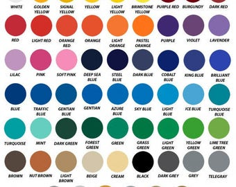 5 Ft Rolls of Oracal 651 Vinyl - ships within 24 hours!  LOTS of colors to choose!