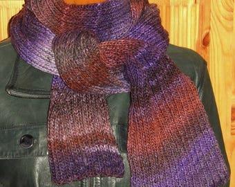 scarf machine tricoterlaine Virgin wool whith 09