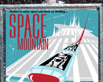 Tomorrowland poster etsy for Space mountain fabric