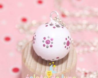 Pink silver white genuine pregnancy's Bola