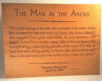 Invaluable image in the man in the arena printable