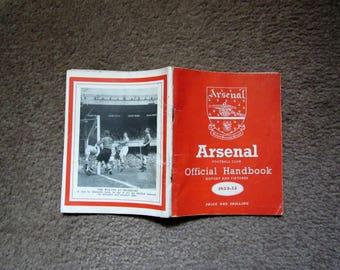 1954/55 Arsenal Football Club Original Official Football Soccer Handbook 136  pages Arsenal Highbury Football Club nostalgia