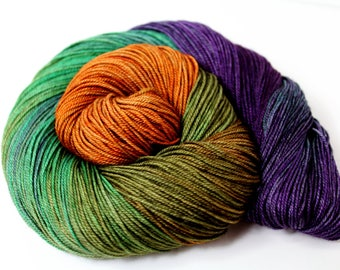 Pragmatic - PREORDER - 100g  437yd Fingering Luxury Yarn 70/20/10 Sw Merino/Yak/Nylon- purple, copper, teal, moss
