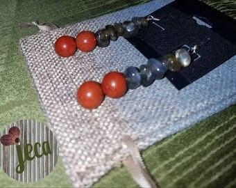 Labradorite & Red Jasper Earrings