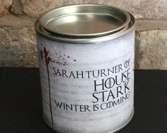 Game of Thrones Personalised scented House Stark