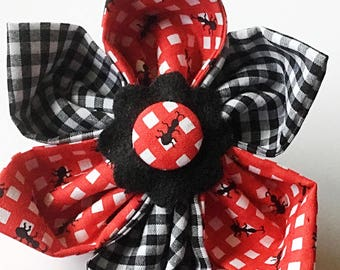 Red & Black Ant Flower for Dog and Cat Collar
