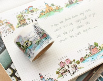 World landscape washi tape