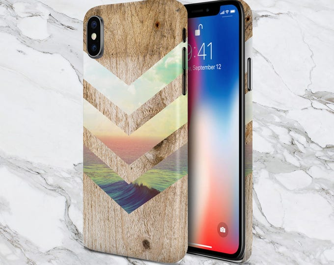 Featured listing image: Galaxy s9 Case - iPhone X Case - iPhone 8 Plus Case - Protective iPhone Case - Samsung Galaxy Case - Nature  - California Skies - Ocean Wood