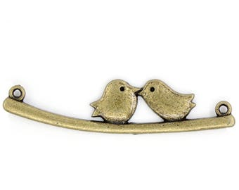 Connector two birds on a branch bronze Dimensions: 53mmx13mm REF.: 1 B 22866