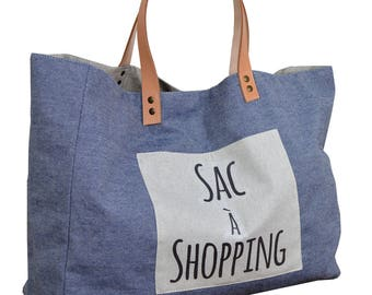 """""""Shopping bag"""" colored 100% cotton fabric"""