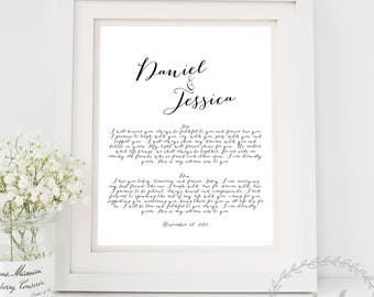 Wedding Vows Print Bride And Groom Prints Wife Gift Husband Anniversary