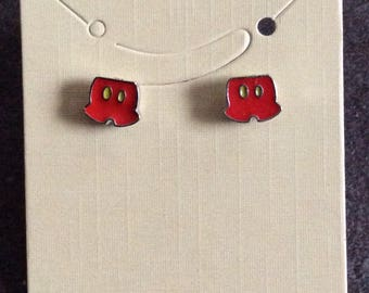 Mickey pants earrings