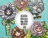 Beautiful Blooms, die cut collection, planners, scrapbook, art journals, sationary