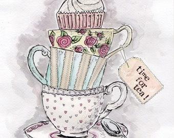 Temps pour l'impression de thé