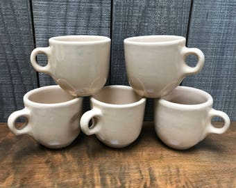 Set of 5 - 8oz. Tepco China USA coffee cups