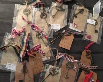 Magic Santa Key, for those with no chimneys, Christmas Tree Decoration, SALE, Key for Santa, Christmas Tree Ornament, Magic Key