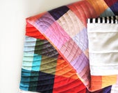 Baby quilt, baby blanket, modern wall quilt, baby shower gift, wall hanging, modern quilt, gender neutral nursery decor, contemporary quilt
