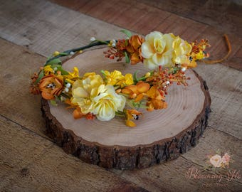 RTS Mommy and me Fall Flower crown set, Flower girl crown, Bride to be crown, Mom to be flower crown, Fall flower crown set.