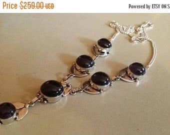 Holiday SALE 85 % OFF Amethyst  Necklace .925 Sterling  Silver  Gemstone Christmas  Holiday