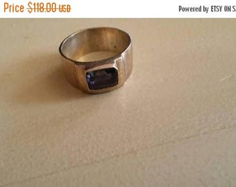 Holiday SALE 85 % OFF Amethyst   ring size 8 Sterling 925 Silver   Ring  Gemstone