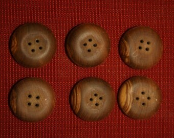 craft buttons - Brown olive wood