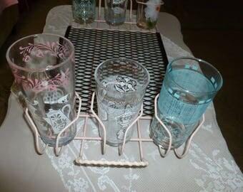vintage midcentury retro cool drinking glass caddy tray 1960u0027s