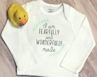 Fearfully and Wonderfully Made - Infant One-Piece Body Suit