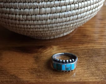 """Native American Turquoise Ring - Size 6.5"""""""