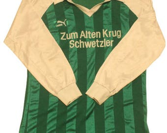 70's vintage puma football shirts made in West germany