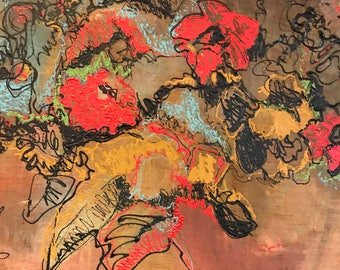Framed Vintage Floral Still Life
