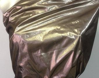 Metallic Lamé Lurex fabric collar, gold and silver blended metallic Sheen