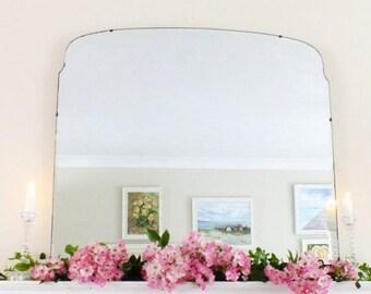 SALE Extra Large Vintage Mirror Art Deco Mirror Frameless mirror Feature Wall Mirror  M176