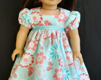 "Beautiful colors in this Nightgown for your 18"" doll, ready to ship!"
