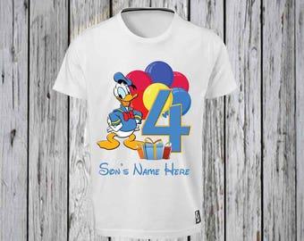 Donald Duck Number Birthday Iron Tshirt Design FILE ONLY! Donald duck birthday-Donald Duck Disney Birthday- Disney Birthday- Happy Birthday