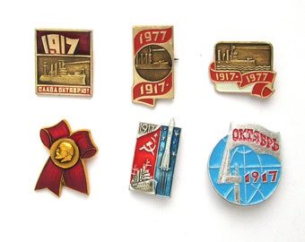 Soviet Badges, Pick from Set, Communism, October Revolution, 1917, Lenin, Rare Vintage collectible badge, Pin, Soviet Union, Made in USSR