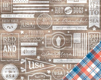 Paper pattern Home of the Brave Americana - the land of the brave