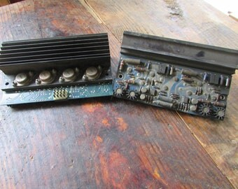 Vintage RCA circuit board and heatsink