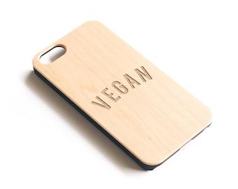 Vegan Gift, Wood iPhone Case, Vegetarian Gift, Animal Rights, Go Vegan, Gifts For Vegans, Gift For Her, Vegetarian,Friends Not Food,Veganism
