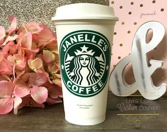 Personalized Starbucks Cup - Personalized Coffee Mug - Reusable Starbucks cup - Custom Travel Mugs - Personalized gifts - Bridesmaid Gifts