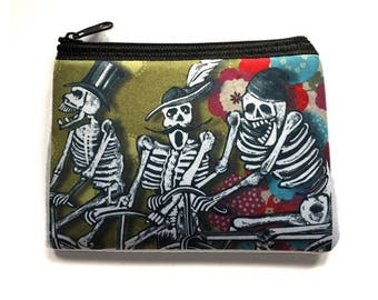 Coin Purse Day of the Dead Skeletons