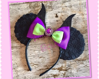 Maleficent inspired mouse ears | Free UK shipping