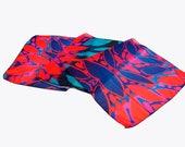 Wearable Art Shawl, Floral Shawl, Scarf Shawl, Boho Bridesmaid Gift, Lightweight Shawl, Hippie Scarf, Stylish Scarf, Urban Scarf,Balck Scarf