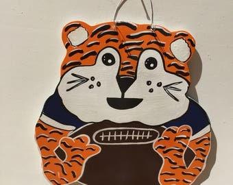 Auburn Tigers door hanger - War Eagle door hanger - Auburn door hanger - Auburn football - Tiger door hanger