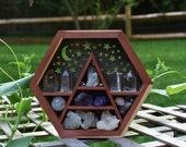 Aromatic Cedar Scenery Hexagon Display Box