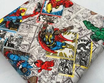 90x140cm/35x55Inch Cool Avengers Superhero Hulk Captain America Spiderman Iron Man Marvel Comics Fabrics