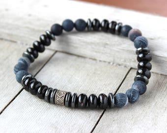 Black Bracelet for Him