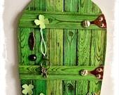 NEW Handcrafted Leprechaun Fae Door / Fairy Door