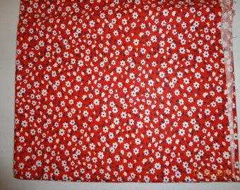 "1 1/2 Yards Retro Print Floral Design Fabric - 44"" wide"
