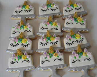 unicorn cake cookies